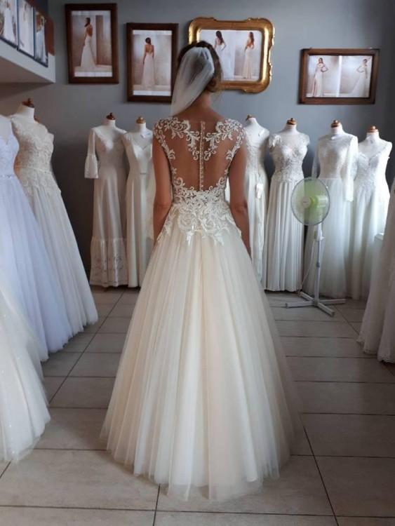 Nowoczesna architektura Suknie - Zjawiskowa suknia ślubna Machiko firmy Gala rozm. 34 - 1 OC19