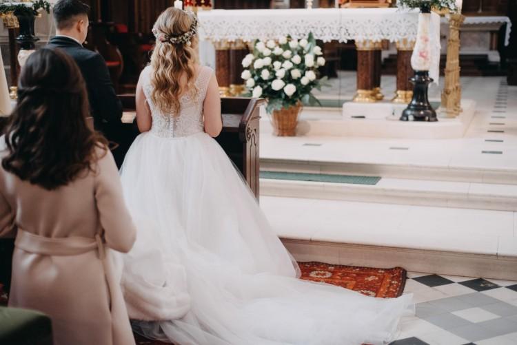 Suknie Suknia ślubna 3840 Ml Z Trenem Księżniczka Róż 30ceny
