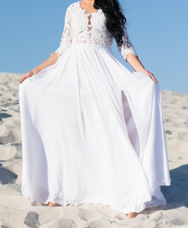 Romantyczna suknia ślubna Charlotte firmy Pilar 2018