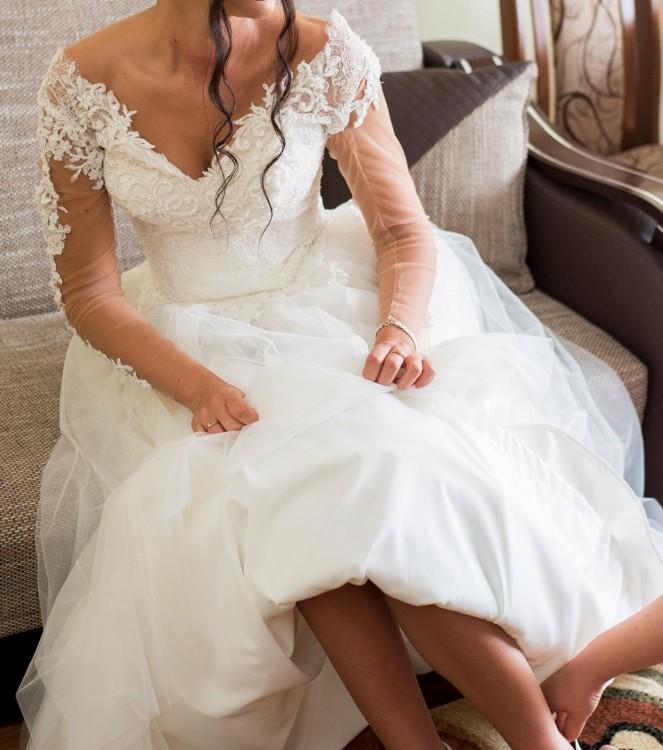 caab1b6c64 Suknie - Przepiękna suknia ślubna + dodatki - 1 800