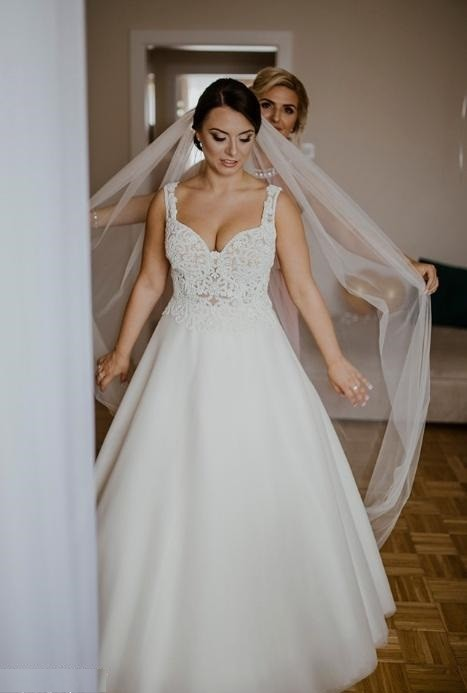 Suknia ślubna Tesoro Rimini ivory r. 38