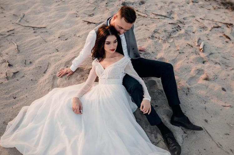 Romantyczna Suknia Ślubna Diana Ecru.