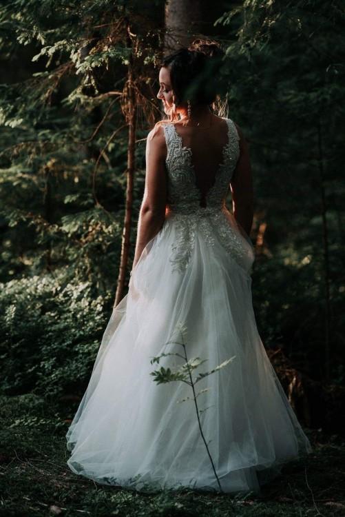 Suknia ślubna S/M 169cm + 6cm obcas