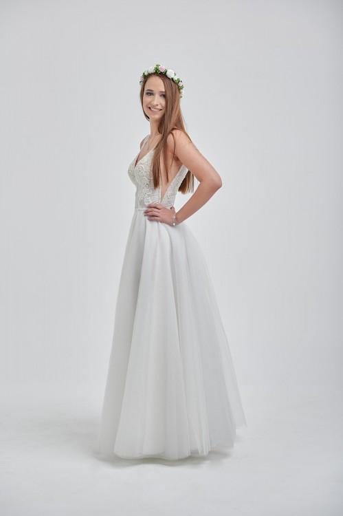 Piękna Suknia Ślubna LORANGE 2019 z welonami