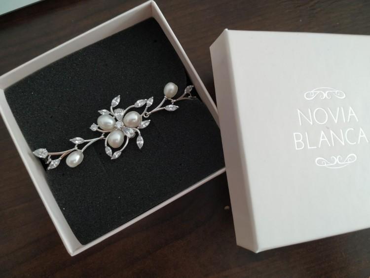 Bransoletka Sutil Silver 16cm Novia Blanca