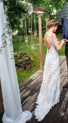 Suknia ślubna boho r. XS