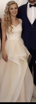 Suknia ślubna wdg własnego projektu.