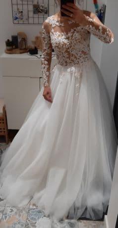 NOWA suknia ślubna z długim rękawem 36