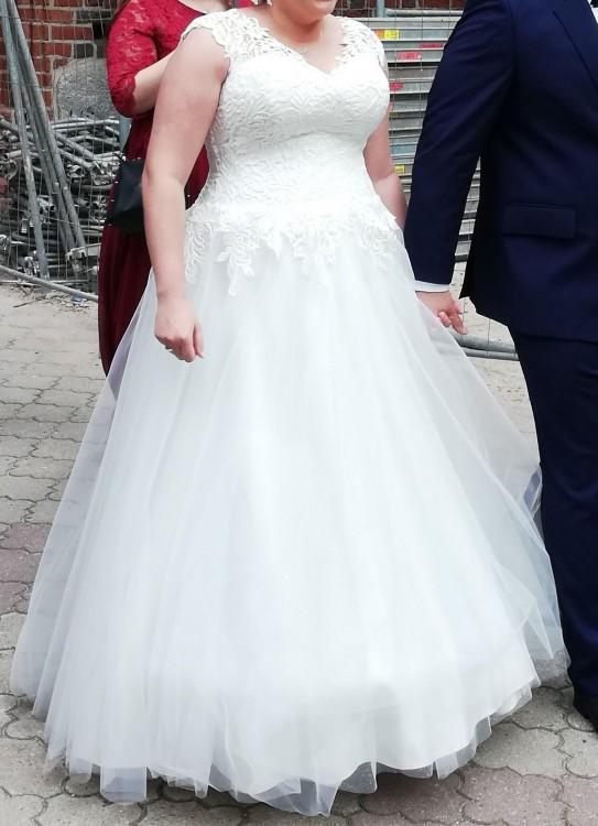 Sprzedam! Suknia ślubna plus size z IDEO DESIGN roz.42-46
