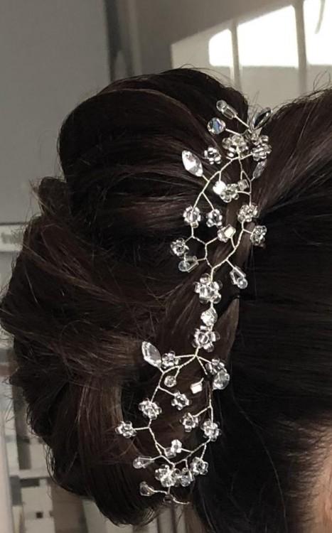 Opaska do włosów z kryształkami