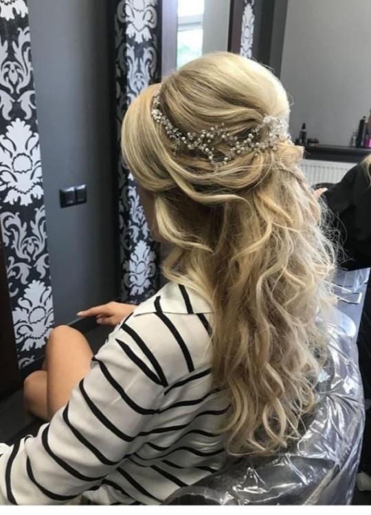 Ozdoba ślubna do włosów Flow handmade acessories