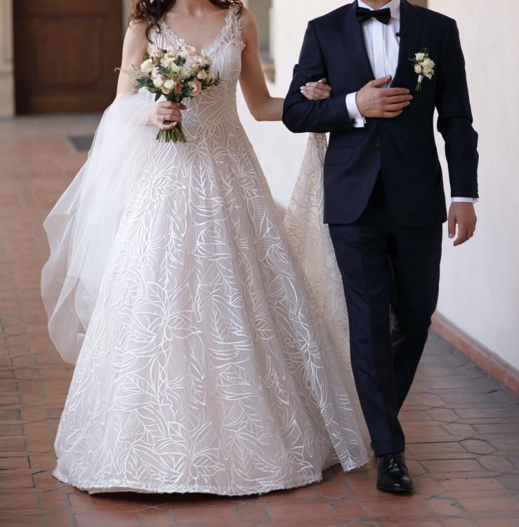 Wyjątkowa Suknia Ślubna Monica Loretti uszyta we Włoszech