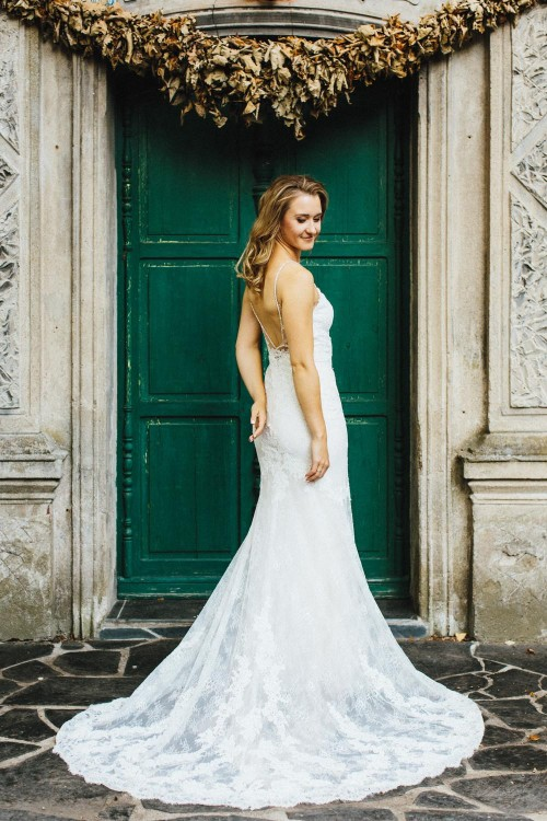 Koronkowa suknia ENZOANI, kolor Ivory Beige, rozm. 36