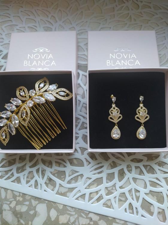 NOVIA BLANCA GOLD piękne kolczyki Tanio