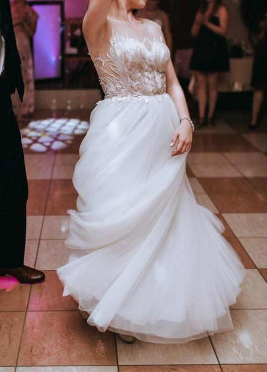 Suknia ślubna MARIFELD Carmelin 160cm +6cm obcas roz. 36/38