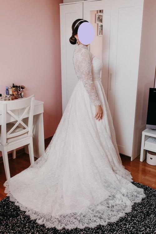 Królewska suknia ślubna z kolekcji Izabeli Janachowskiej