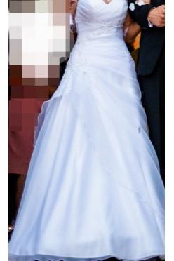 Skromna suknia ślubna rozm. 34-36, biel