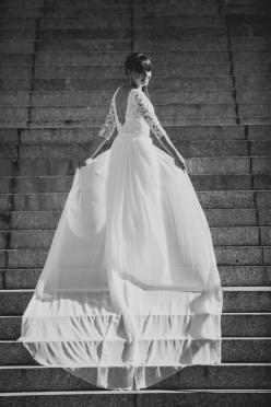 Jedwabna suknia ślubna Mabell