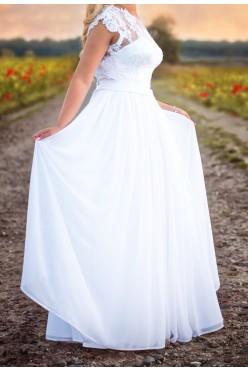 Wyjątkowa suknia ślubna  - koronka
