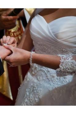 Biżuteria ślubna srebro i kryształki Swarovskiego