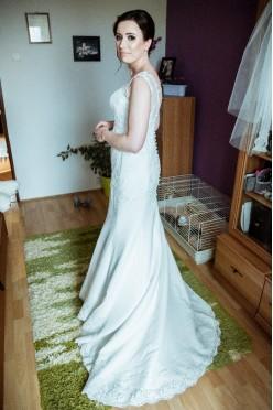 Koronkowa suknia ślubna :)