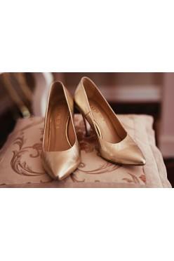 Buty ślubne BADURA złote