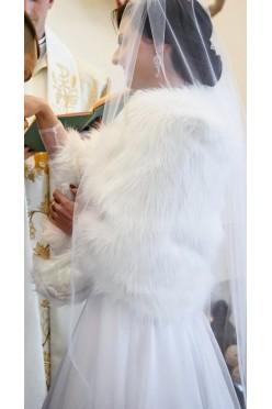 Narzutka ślubna kożuszek