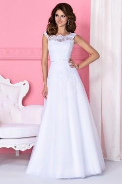 Suknia ślubna Visual Chris model 558 Klasyczna Koronka Tiul