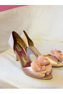 Buty ślubne szpilki Badgley Mischka rose pink