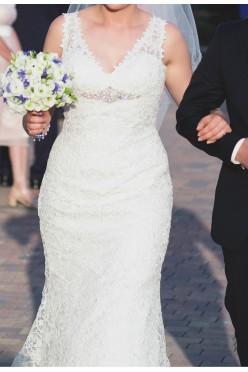 Suknia ślubna gipiurowa, rozm. 38 - Ronald Joyce 66004