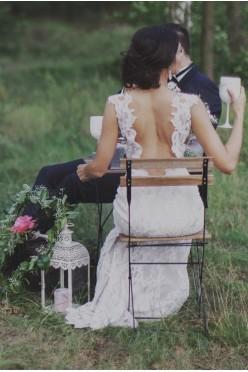 Romantyczna suknia w stylu Boho