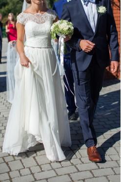 zwiewna i subtelna suknia ślubna Afrodyta