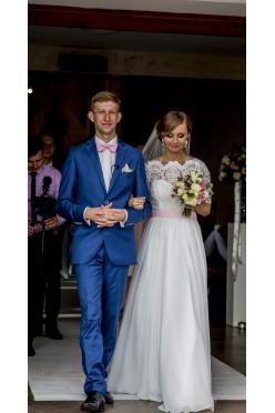Piękna suknia ślubna romantyczna vintage