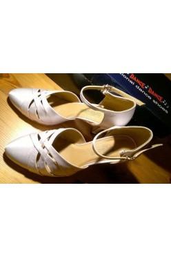 Nowe buty taneczne Dance biała satyna 37