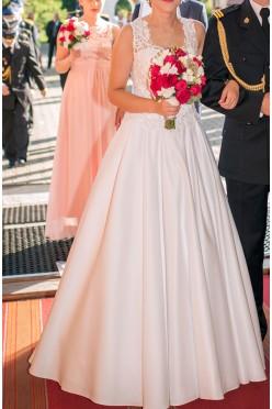 Elegancka suknia ślubna - biała