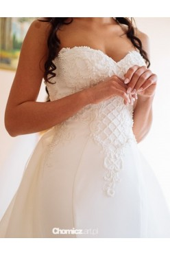 Suknia ślubna syrena z trenem