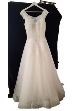 Nowa suknia 38/40 do 42, regulowana gorsetem,