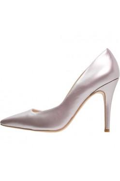 buty na obcasie różowa perła skóra 38