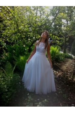 Subtelna i elegancka suknia ślubna
