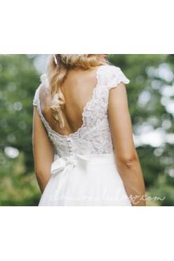 Romantyczna i lekka suknia ślubna