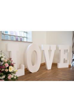 Duży, styrodurowy napis LOVE