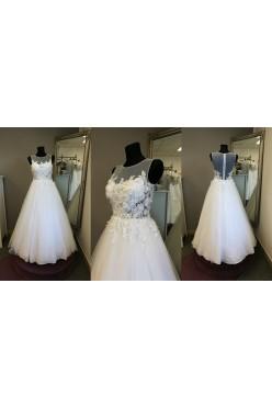 nowoczesna suknia ślubna - koronka 3d