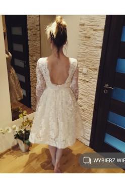 Krótka suknia ślubna lub na poprawiny