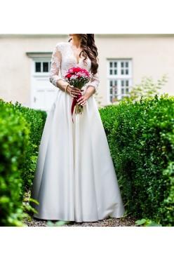 Elegancka suknia ślubna r.34