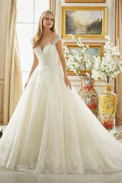 Królewska, koronkowa suknia ślubna Mori Lee - 2017