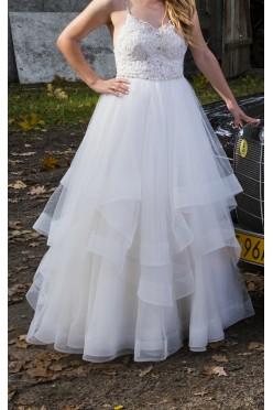 NOWA NIŻSZA CENA: Wyjątkowa suknia ślubna z falbanami