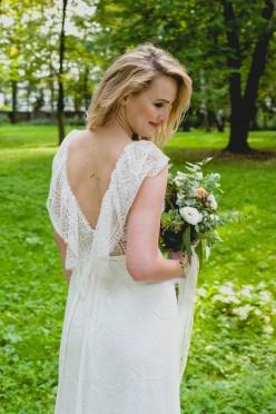 Suknia ślubna w stylu boho na 178 cm