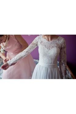 Suknia ślubna à la Melbe (Sabe) szyta na miarę r. 34