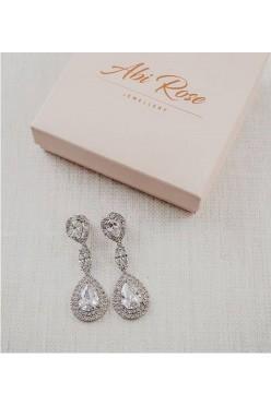 Kolczyki ślubne firmy ABI ROSE z kolekcji Stella