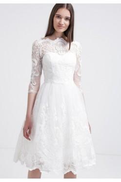 Sukienka CHI CHI LONDON Flora rozm. 40 (L) koronkowa biała